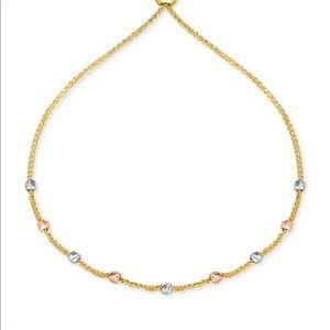 10k gold Tricolor bead bracelet